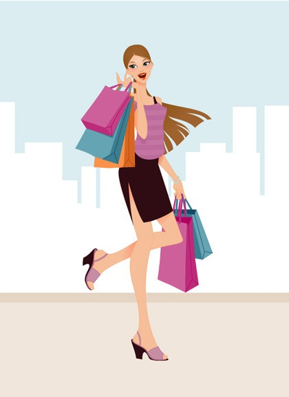 fashion-shopping-girls-vector-art