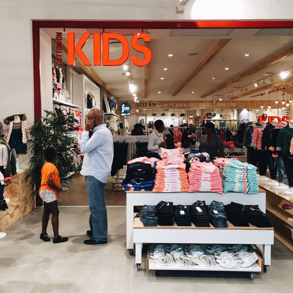 Mall of Africa opening with Cotton On Kids